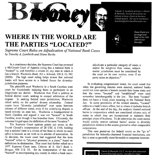 "Where In The World Are The Parties ""Located?"" – Big Money"